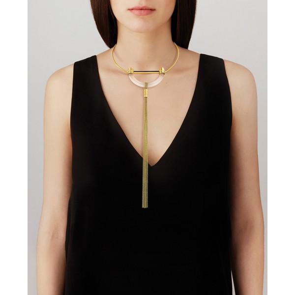1927 Fantasie Crystal Rigid Necklace - G...