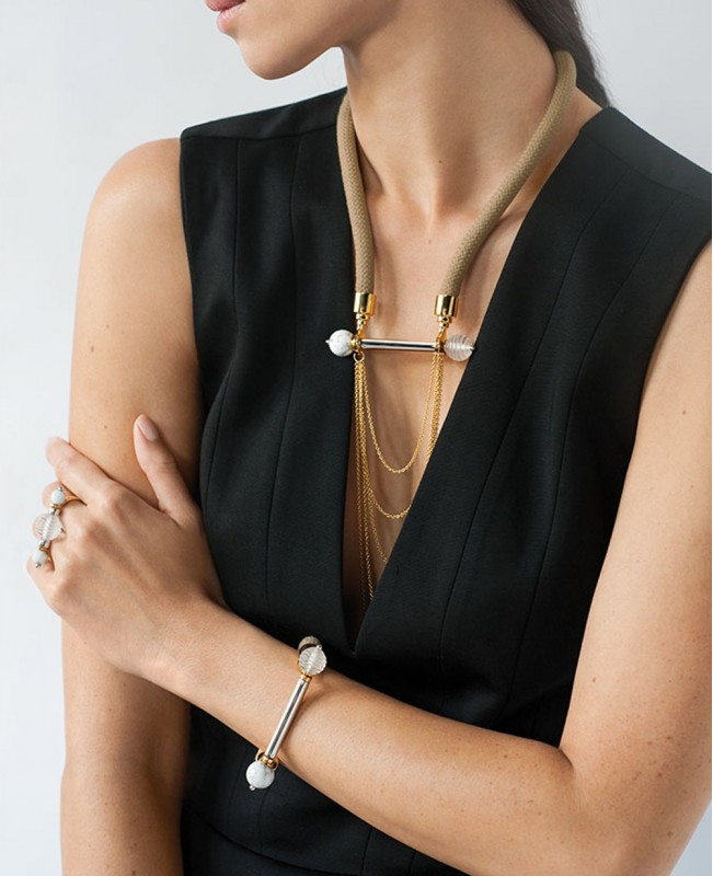 1928 Fantasie Crystal Necklace - Gold (Lalique)