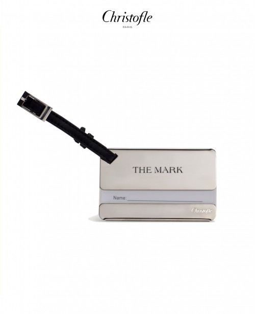 Stainless Steel Luggage Tag with Leather...
