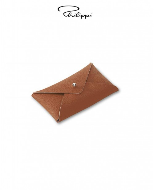 Letter Leather Business Card Holder - Br...