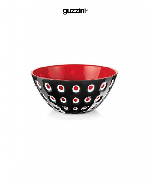 Le Murrine Salad Bowl Black and Red