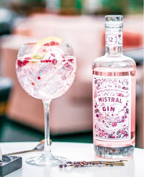 Terres de Mistral Pink Gin (40%) 50cl