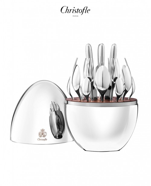 Mood 24 Piece Cutlery Set in Silver (Chr...