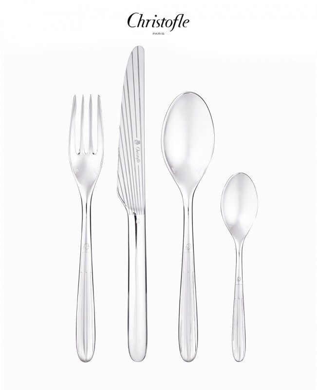 Mood 24 Piece Cutlery Set by Karl Lagerfeld (Christofle)