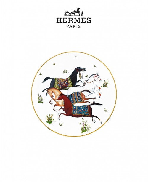 Cheval d'Orient Dessert Plate (Hermes)