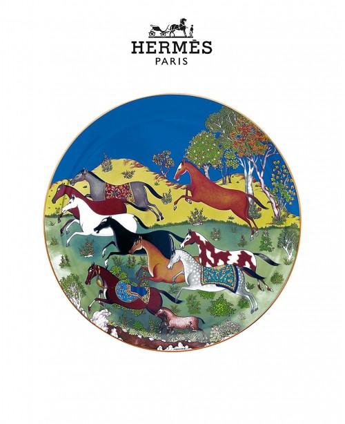 Cheval d'Orient Tart Platter (Hermes)
