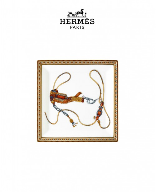 Cheval d'Orient Square Plate N3 (Hermes)