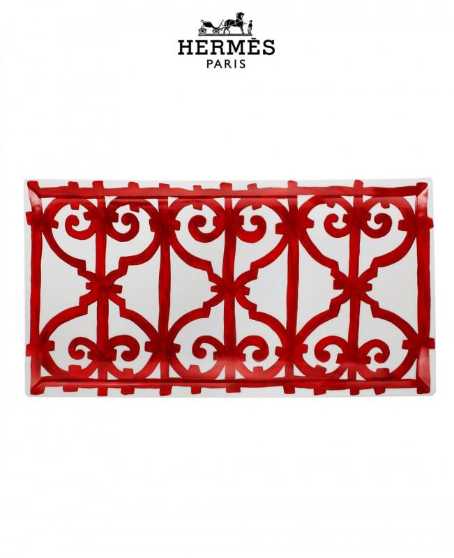 Balcon Du Guadalquivir Rectangular Platter (Hermes)