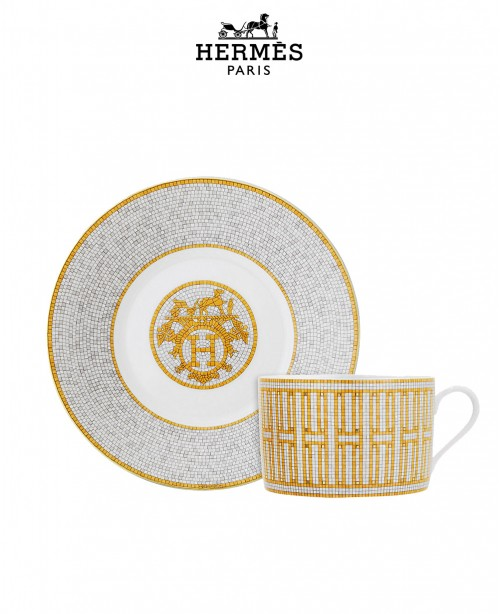 Mosaique au 24 Gold Breakfast Cup and Sa...