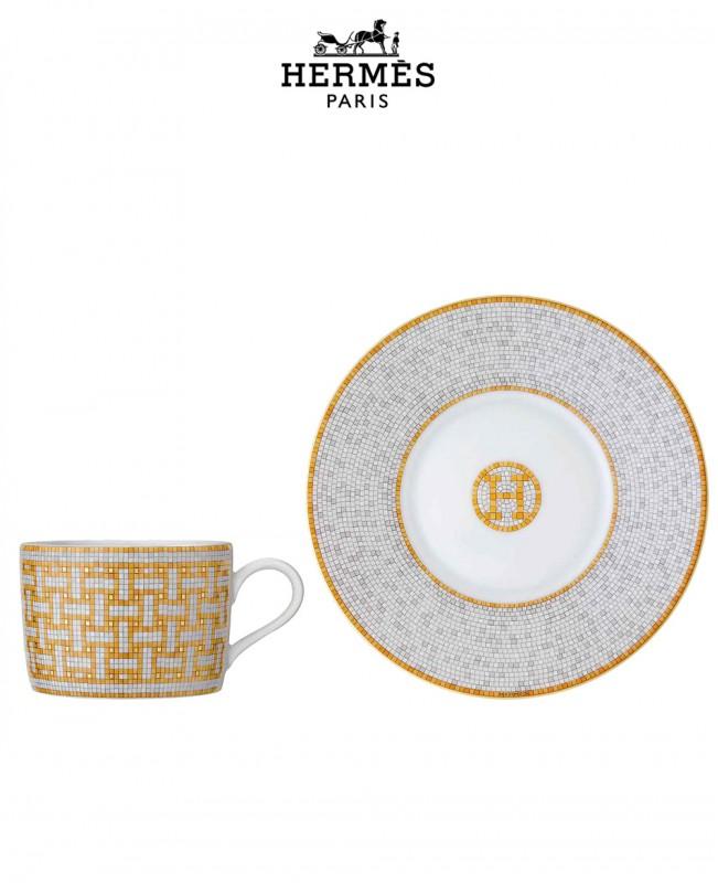 Mosaique Au 24 Gold Set Of 2 Tea Cups (Hermes)