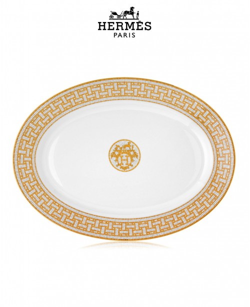 Mosaique Au Gold 24 Platinum Oval Platte...