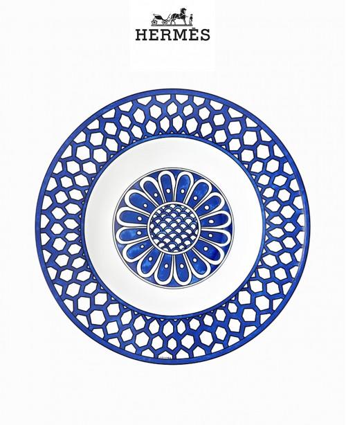 Bleus d'Ailleurs Soup plate (Hermes)