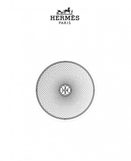 H Deco Bread and Butter Plate (Hermes)
