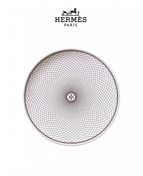 H Deco Rouge Dinner Plate (Hermes)