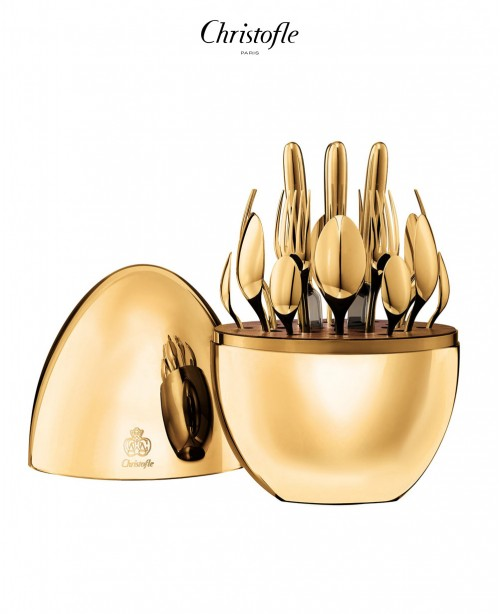 Mood 24 Piece Cutlery Set in 24 Carat Go...