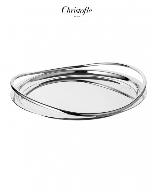 Vertigo Silver Plated Round Serving Tray...