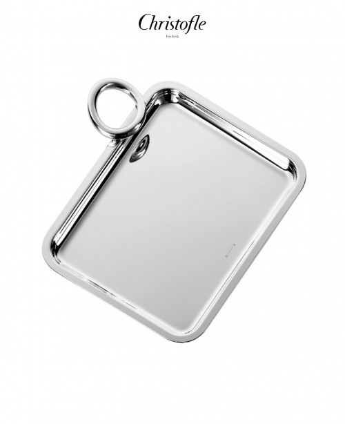 Vertigo Silver Plated Single-Handle Tray...