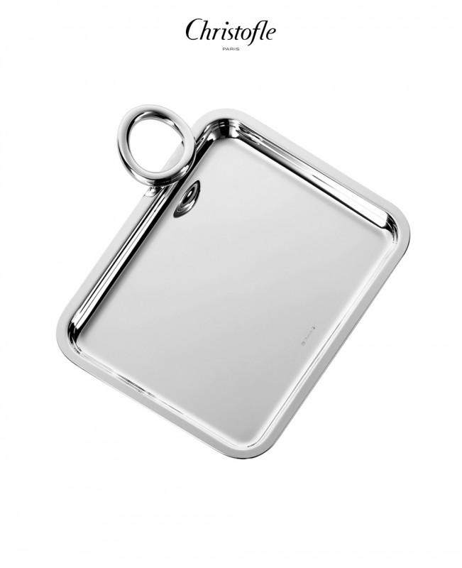 Vertigo Silver Plated Single-Handle Tray (Christofle)