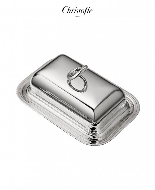 Vertigo Silver Plated Butter Dish with L...