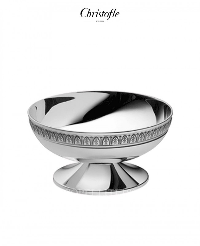 Malmaison SIlver Plated Round Bowl on Pedestal (Christofle)