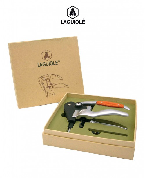 Brushed Steel and Wooden Corkscrew (Lagu...