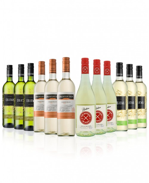 New World Whites 12 bottles (Mixed Wine ...