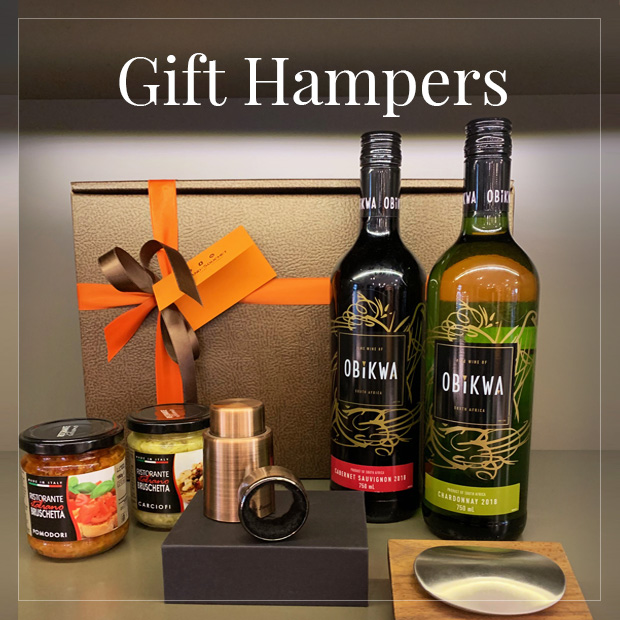 browse our hampers and wine boxes